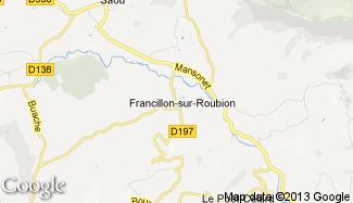 Plan de Francillon-sur-Roubion