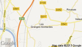 Plan de Les Granges-Gontardes