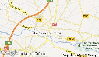 Plan de Livron-sur-Drôme