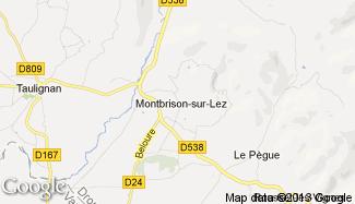 Plan de Montbrison-sur-Lez