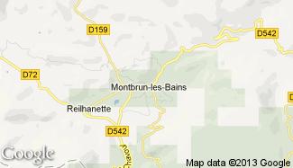 Plan de Montbrun-les-Bains