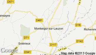 Plan de Montségur-sur-Lauzon