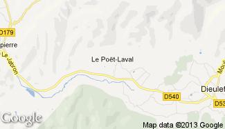 Plan de Le Poët-Laval