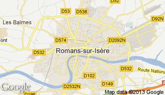 Plan de Romans-sur-Isère