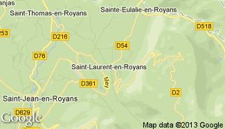 Plan de Saint-Laurent-en-Royans