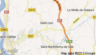 Plan de Saint-Uze