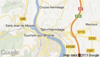 Plan de Tain-l'Hermitage