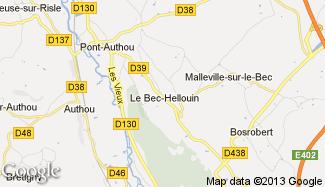 Plan de Le Bec-Hellouin