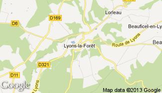 Plan de Lyons-la-Forêt