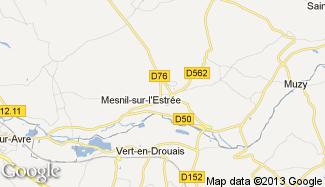 Plan de Mesnil-sur-l'Estrée