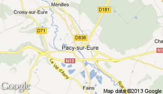 Plan de Pacy-sur-Eure
