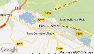 Plan de Pont-Audemer