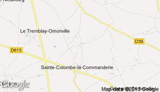 Plan de Sainte-Colombe-la-Commanderie