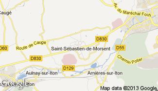 Plan de Saint-Sébastien-de-Morsent