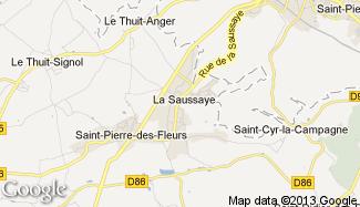 Plan de La Saussaye