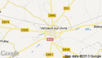 Plan de Verneuil-sur-Avre