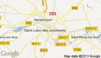 Plan de Saint-Lubin-des-Joncherets