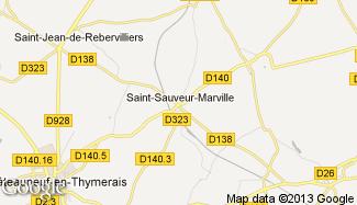 Plan de Saint-Sauveur-Marville
