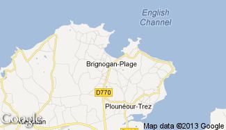 Plan de Brignogan-Plage