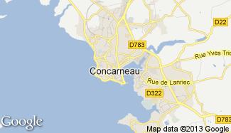 Plan de Concarneau