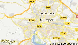 Plan de Quimper