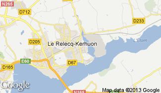 Plan de Le Relecq-Kerhuon