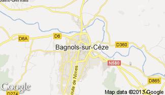 Plan de Bagnols-sur-Cèze