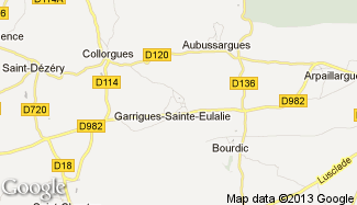 Plan de Garrigues-Sainte-Eulalie