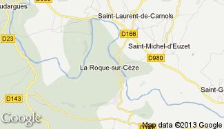 Plan de La Roque-sur-Cèze