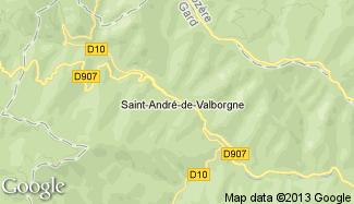 Plan de Saint-André-de-Valborgne