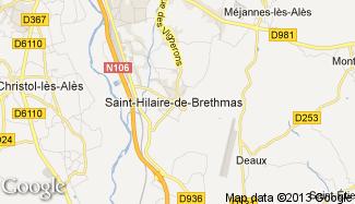 Plan de Saint-Hilaire-de-Brethmas
