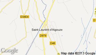 Plan de Saint-Laurent-d'Aigouze