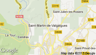 Plan de Saint-Martin-de-Valgalgues