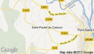 Plan de Saint-Paulet-de-Caisson