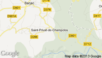 Plan de Saint-Privat-de-Champclos