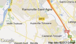 Plan de Auzeville-Tolosane