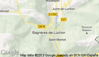 Plan de Bagnères-de-Luchon