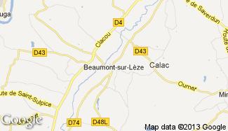 Plan de Beaumont-sur-Lèze