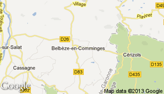 Plan de Belbèze-en-Comminges