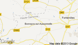 Plan de Bonrepos-sur-Aussonnelle