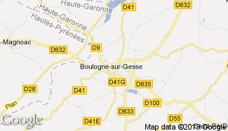 Plan de Boulogne-sur-Gesse