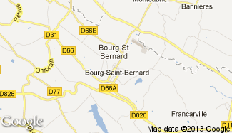 Plan de Bourg-Saint-Bernard