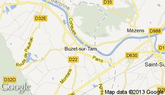 Plan de Buzet-sur-Tarn
