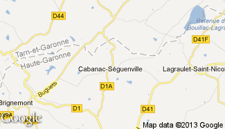 Plan de Cabanac-Séguenville