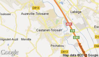 Plan de Castanet-Tolosan