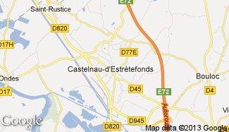 Plan de Castelnau-d'Estrétefonds