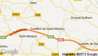 Plan de Castillon-de-Saint-Martory