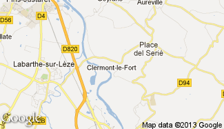Plan de Clermont-le-Fort