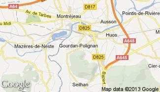 Plan de Gourdan-Polignan