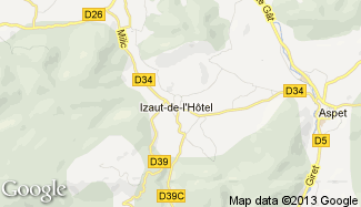 Plan de Izaut-de-l'Hôtel